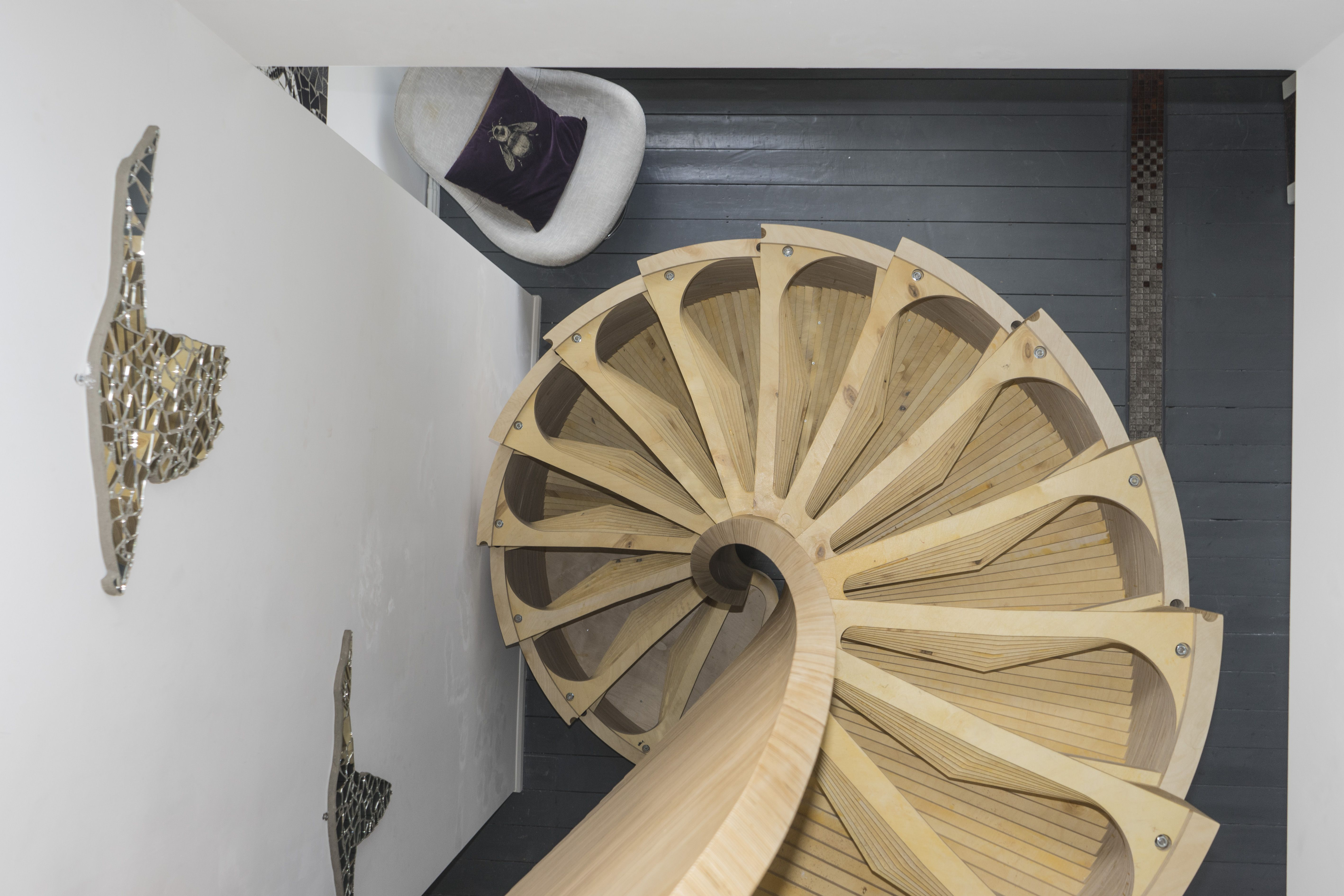 Best Nautilus A Spiral Staircase Fabricated From 180 Unique 400 x 300