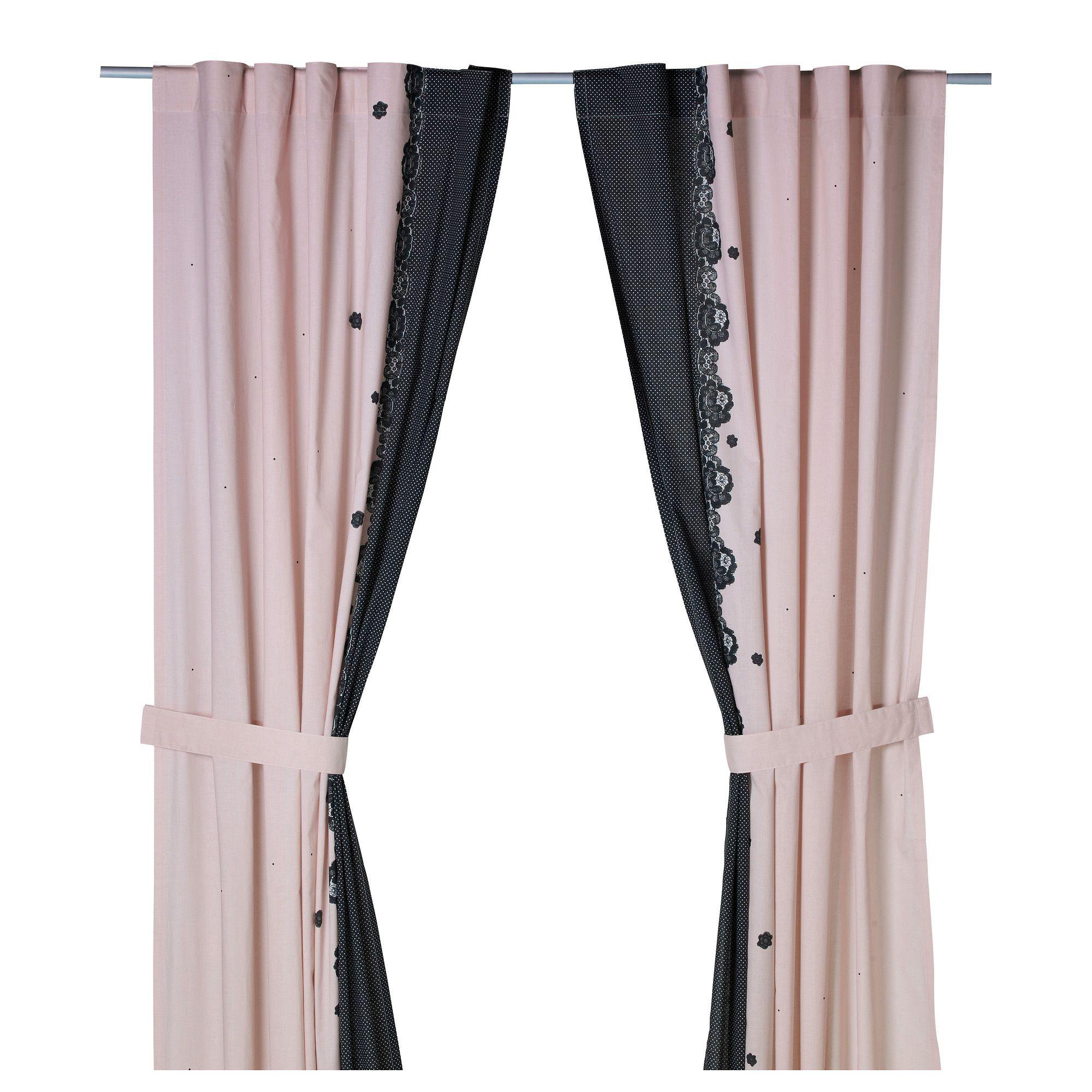 interesting charmerande rideau avec embrasse ikea with rideau dentelle ikea. Black Bedroom Furniture Sets. Home Design Ideas