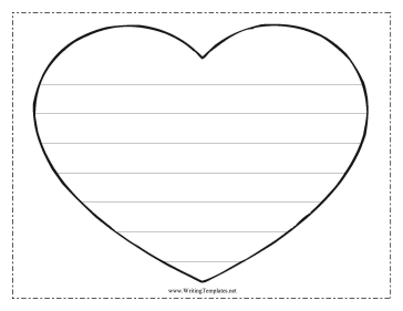 Heart writing template writing template free to download and this free printable writing template shows a heart with seven lines for writing letters it is great as a classroom activity during valentines day for pronofoot35fo Images