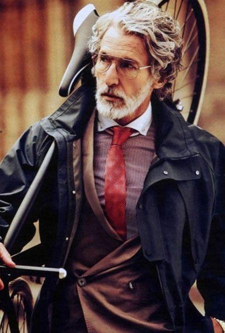 Fashion Hair Older Men Van Short Mens Long