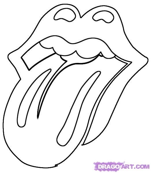 How To Draw The Rolling Stones Lips And Tongue By Dawn Rolling