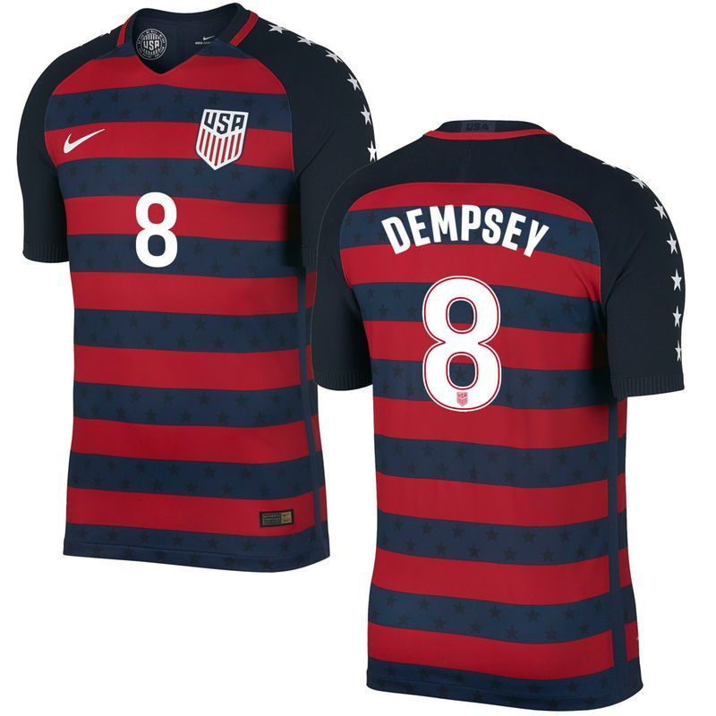 404244a71 Clint Dempsey US Soccer Nike 2017 18 Vapor Match Authentic Gold Cup Jersey  - Navy Red