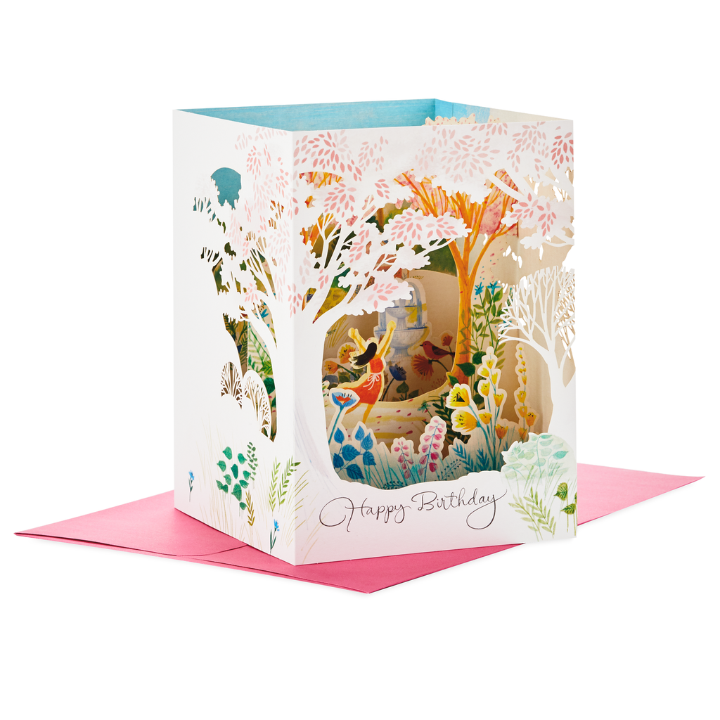 Do What You Love Pop Up Shadow Box Birthday Card Boxed
