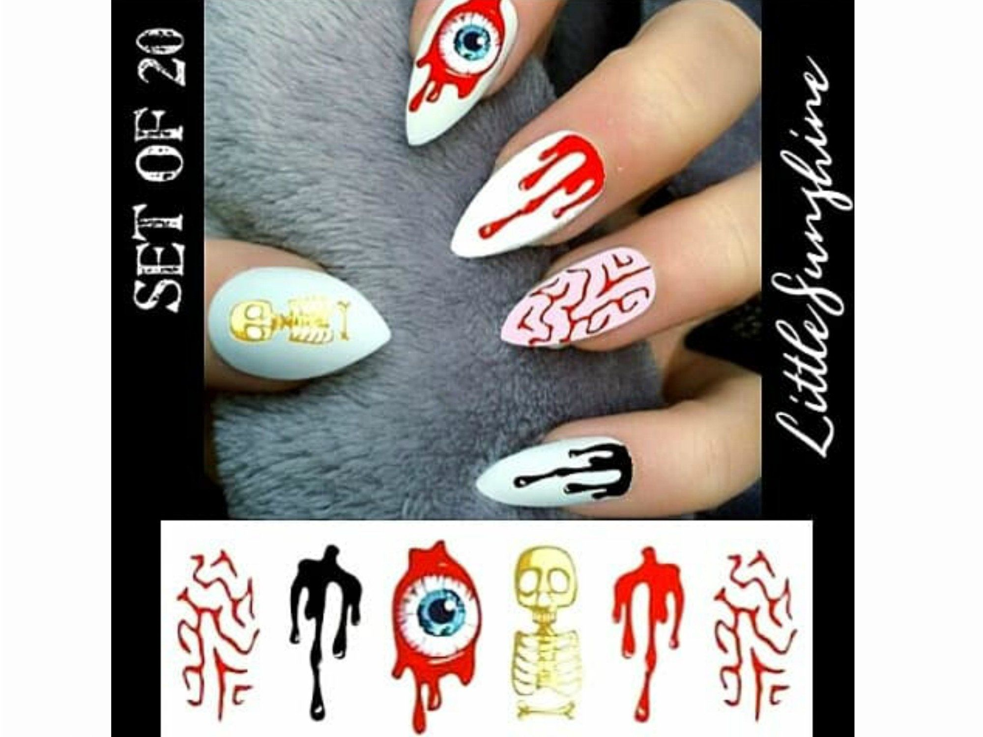 Halloween Nails/ Halloween Nail Art/ Halloween Nail Decal ...