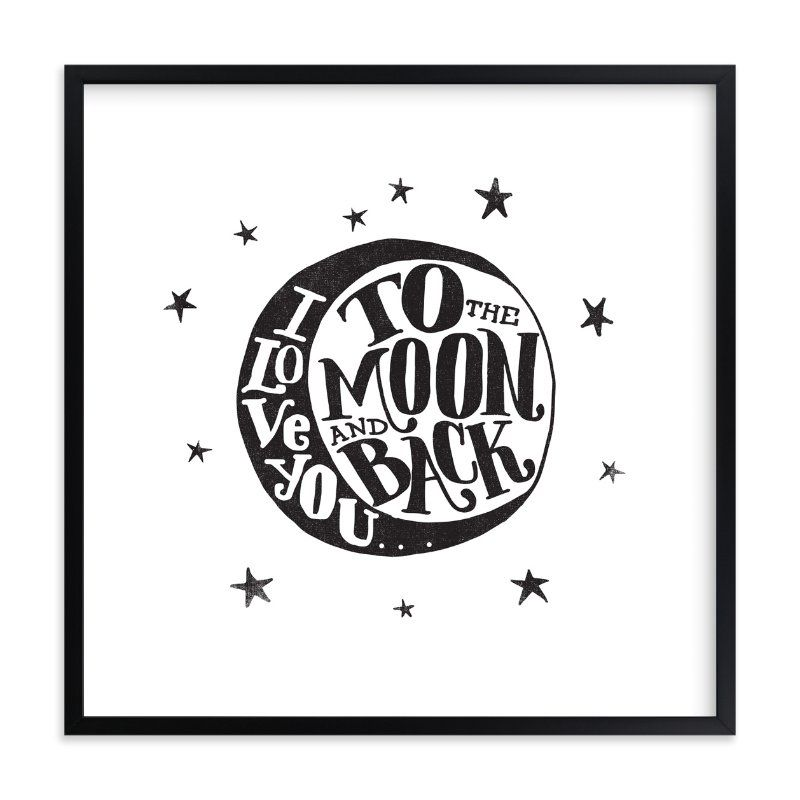 """...to the moon and back"" - Limited Edition Art Print by Matthew Taylor Wilson in beautiful frame options and a variety of sizes."