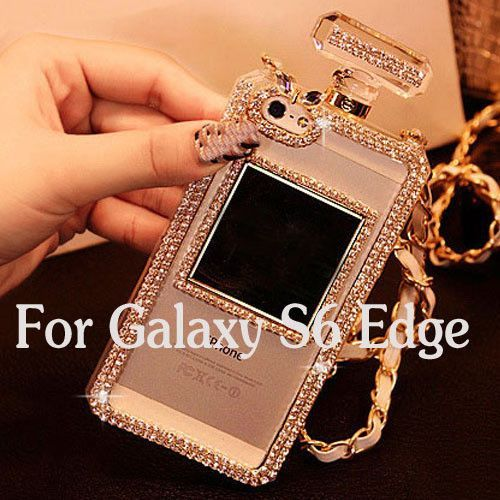 Luxury Bling Perfume Bottle Phone Case for iphone 6 Plus 5 5s for Samsung Galaxy S4 S5 S6 Note 3 4