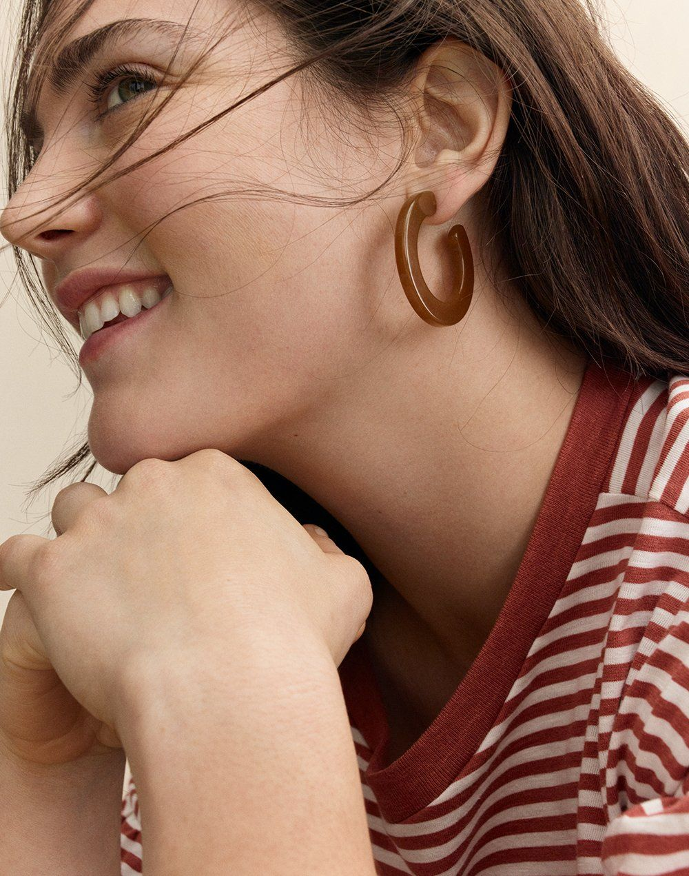 05af0afa9db9f Striped Resin Hoop Earrings | seasons change / looks we love ...