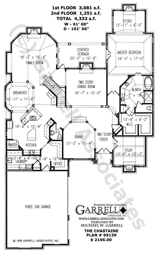 chastaine house plan 99139 garrell associates inc