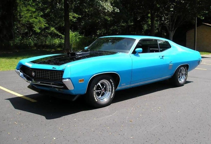 Grabber Blue 1970 Super Cobra Jet 428 Torino With Images Ford