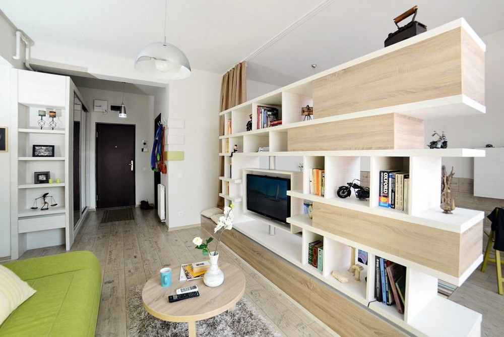 40sqm Apartment Showcasing A Highly Creative Layout In Arad Romania Apartamento Acogedor Estudio Acogedor Decoracion De Interiores