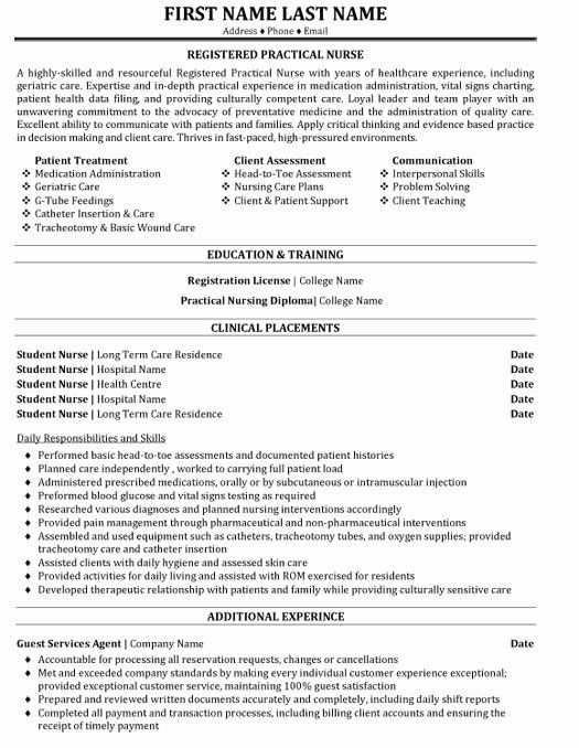 practical nurse resume sample canada