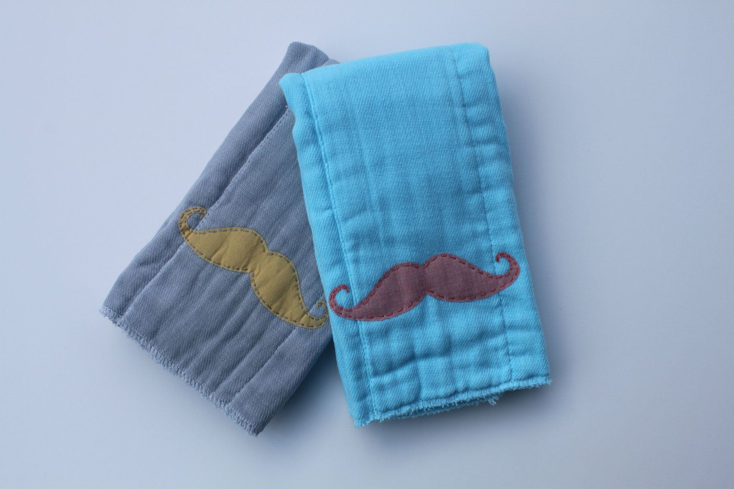 mustache burp cloth for your little lumberjacks #pinparty