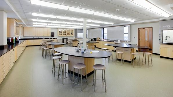 Classroom Design College : Modern high school classroom home interiors designs