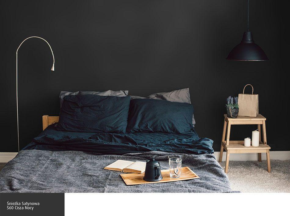 Ciemny Kolor ściany W Sypialni Sypialnia Kolory ścian