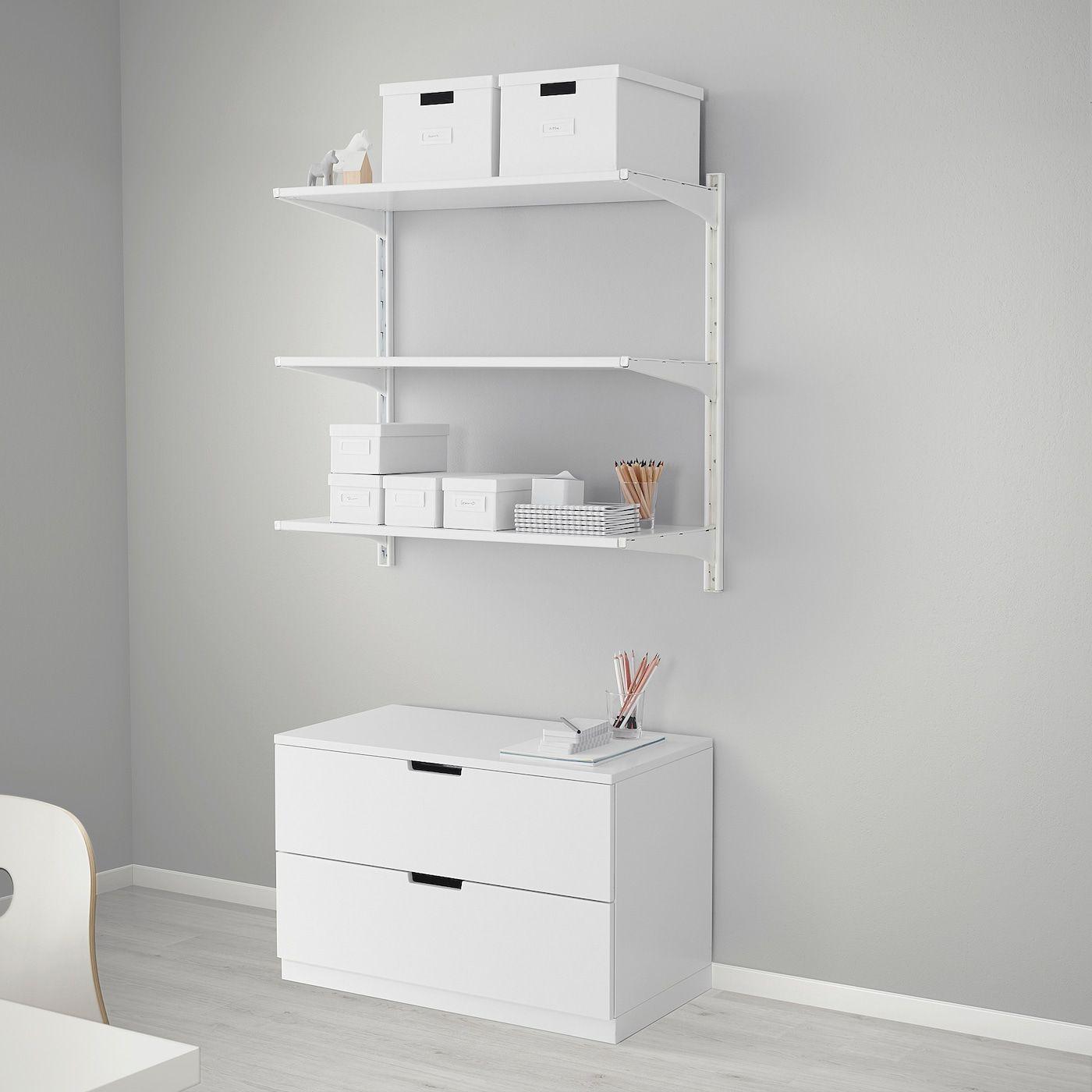 Ikea Algot Riel Susp Baldas Blanco Puedes Combinar Los Elementos De La Serie Algot De Muchas Maneras Distintas Segun T In 2020 Ikea Algot Wandschiene Regalsysteme