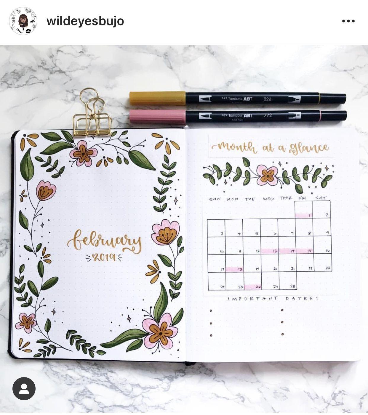Floral Bullet Journal Theme