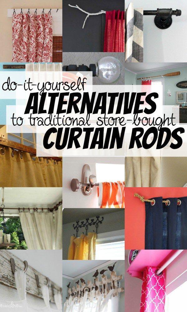 Alternative DIY Curtain Rods via Remodelaholic Diy