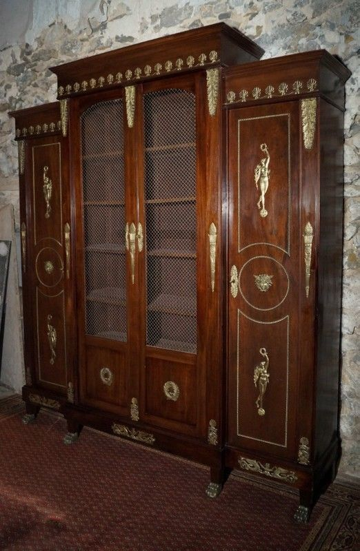 Bibliotheque Empire Retour D 39 Egypte En Acajou D 39 Epoque Napoleon Iii Art Antiquites Meubles Dec Mobilier De Salon Meubles De Rangement Napoleon Iii