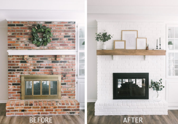How To Paint Your Brick Fireplace - Katie Lamb