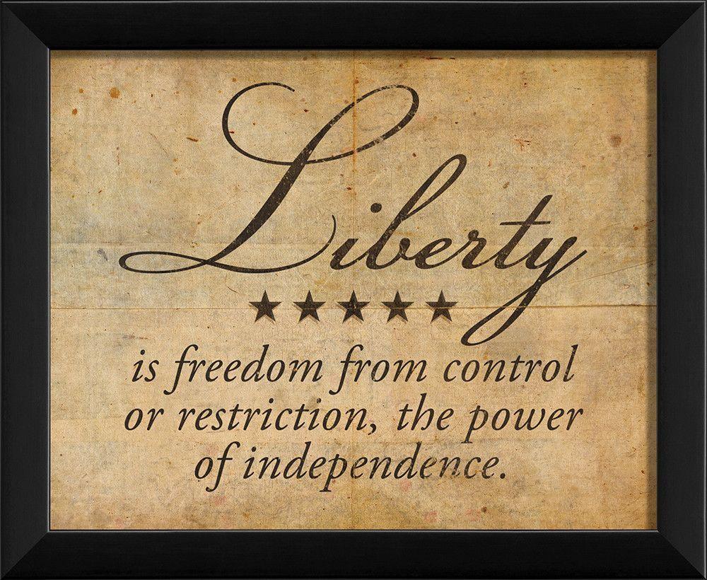 Liberty Definition Framed Textual Art