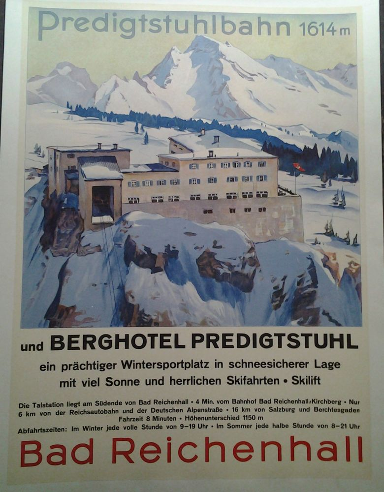 affiche ancienne predigtstuhlbahn allemagne germany. Black Bedroom Furniture Sets. Home Design Ideas