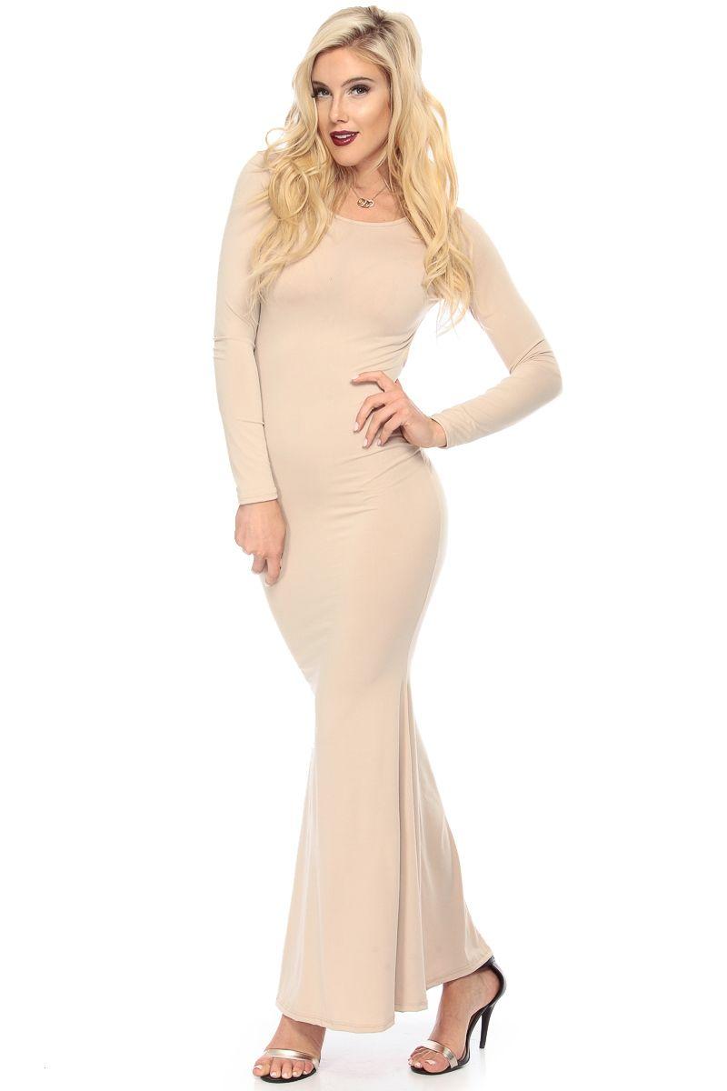 Nude diamond cut mermaid maxi dress cicihot sexy dressessexy