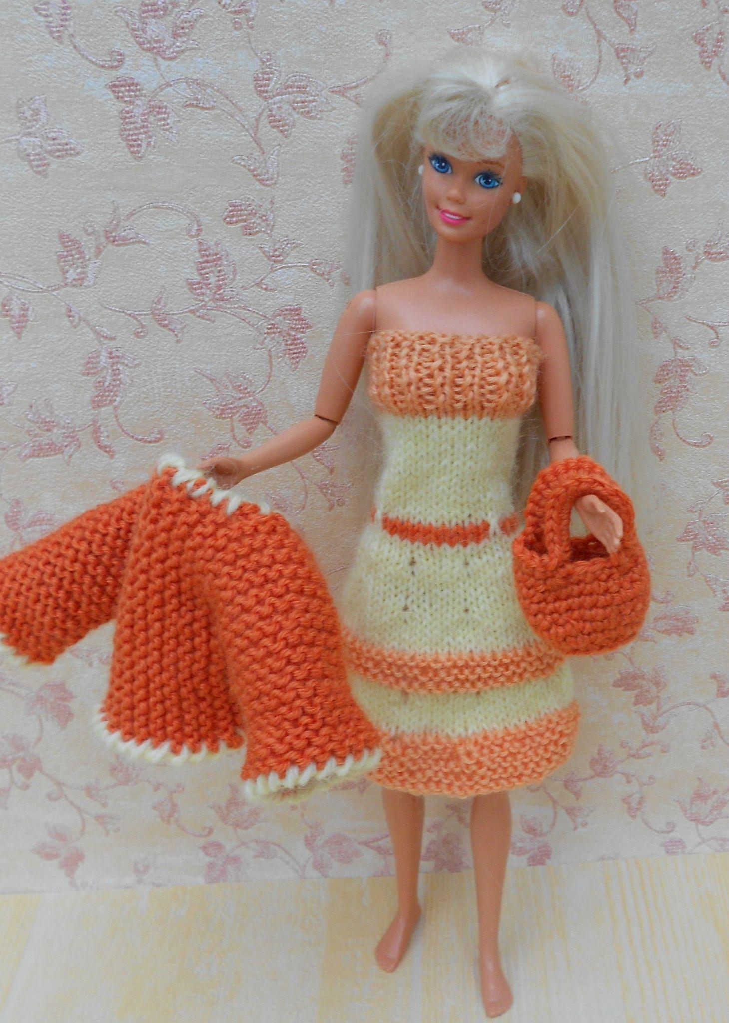 comment tricoter des vetement pour barbie | Tricot | Pinterest