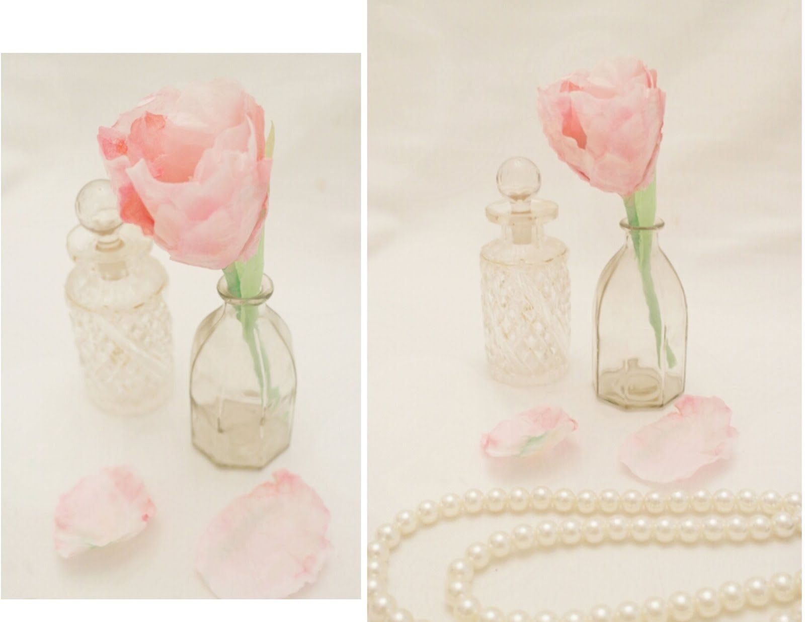 Tissue paper tulip tutorial  fabric and fake flowers  Pinterest