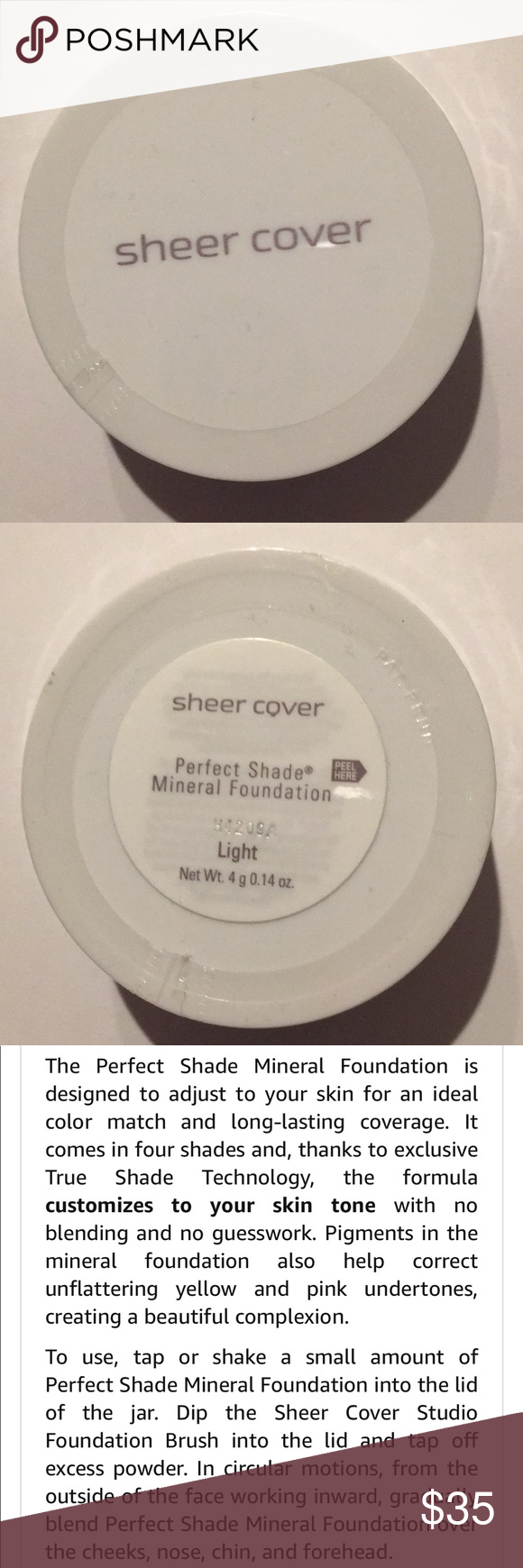SHEER COVER MINERAL FOUNDATION Sealed New sheer cover
