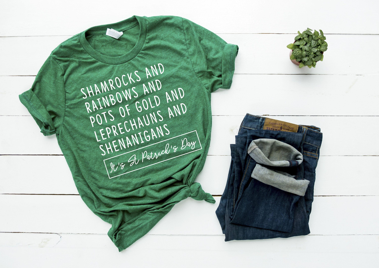 8e5088cd2 Funny Novelty St Patrick's Day Shirt, Luck Of The Irish Shirt, Shenanigans  Shirt,