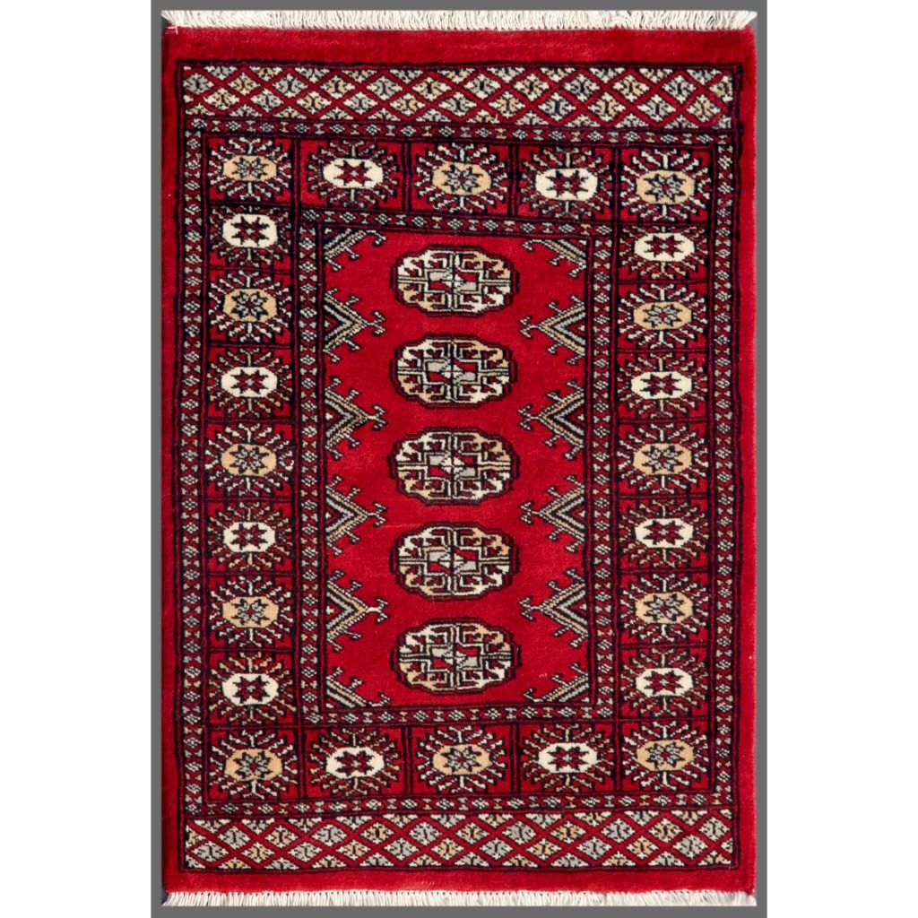 Herat Oriental Stani Hand Knotted Bokhara Wool Rug 2 X