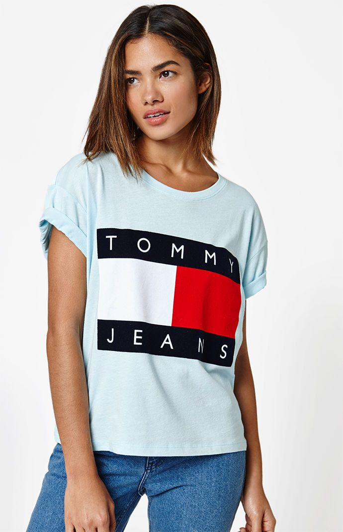 d35f97e5 PacSun : Tommy Hilfiger-90s Flock T-Shirt | t o p s in 2019 | Cute ...