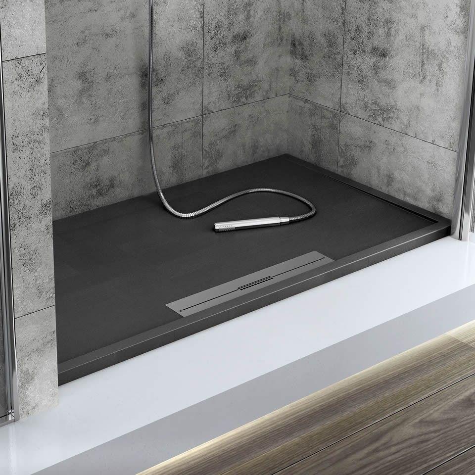 black shower tray - Google Search | Wc | Pinterest | Black shower ...