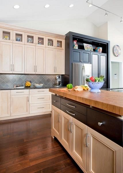 Mixing Cabinet Door And Drawer Styles Transitional Kitchen Design Eclectic Kitchen Kitchen Interior