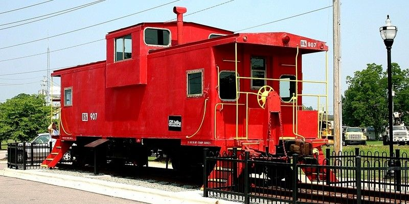 red caboose Cabooses were once used on nearly every freight