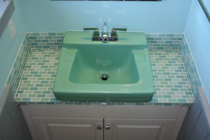 """Hello, Retro What do you get when you salvage a """"Ming Green"""" sink ..."""