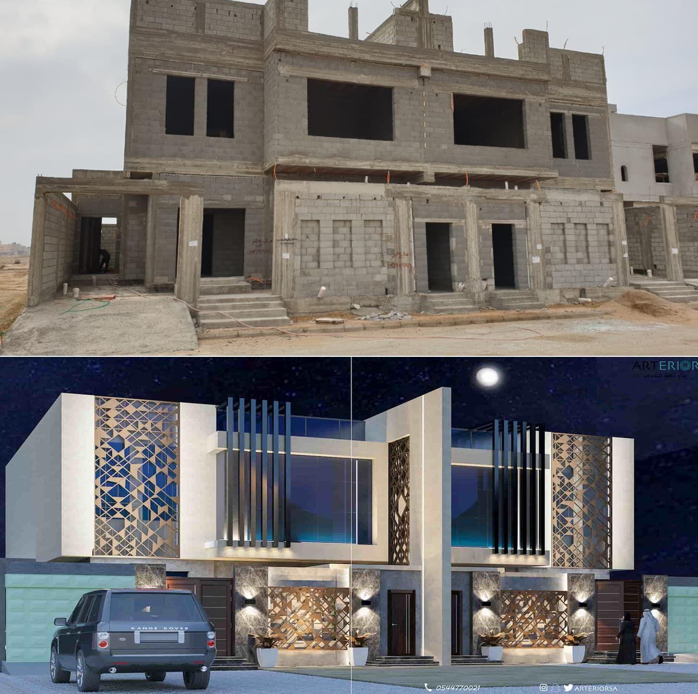 تصميم واجهه الفيلا House Styles Mansions House