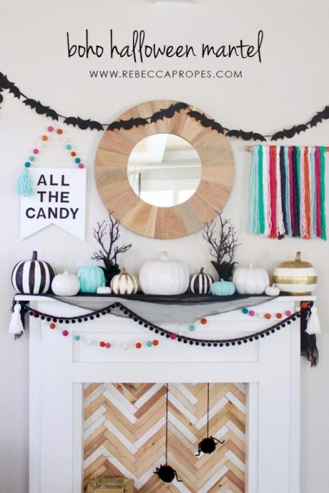 Modern Halloween Candy Bowl -   22 boho halloween decor