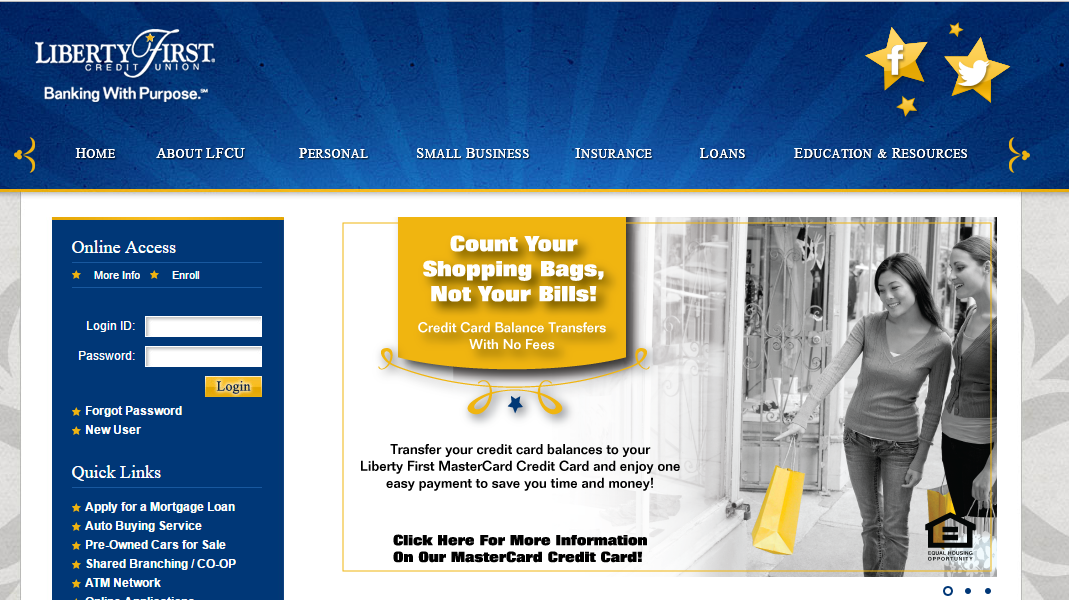 Liberty First Credit Union Account Login Credit union