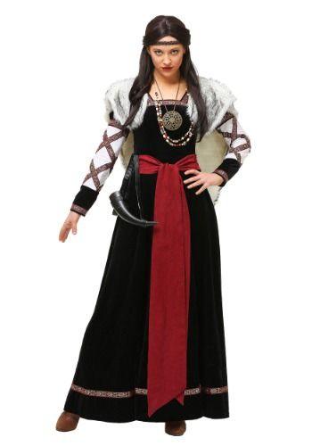 Women\u0027s Plus Size Dark Viking Dress Viking dress, Costumes and - halloween costume ideas plus size