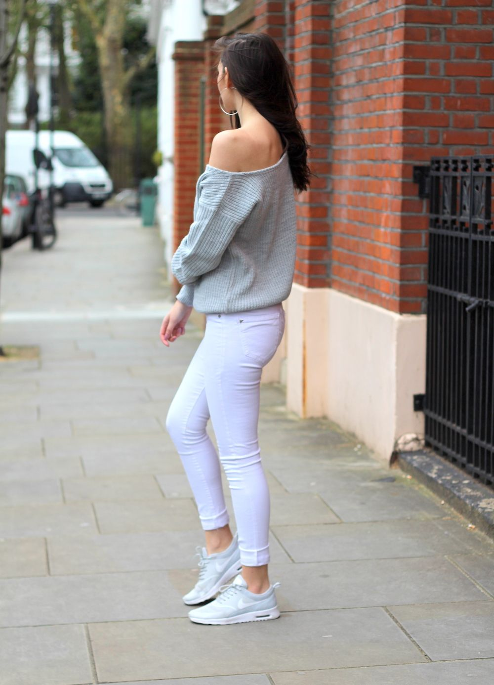 air max thea asos casual cold shoulder fashion grey missguided nike river  island spring trainers white jeans