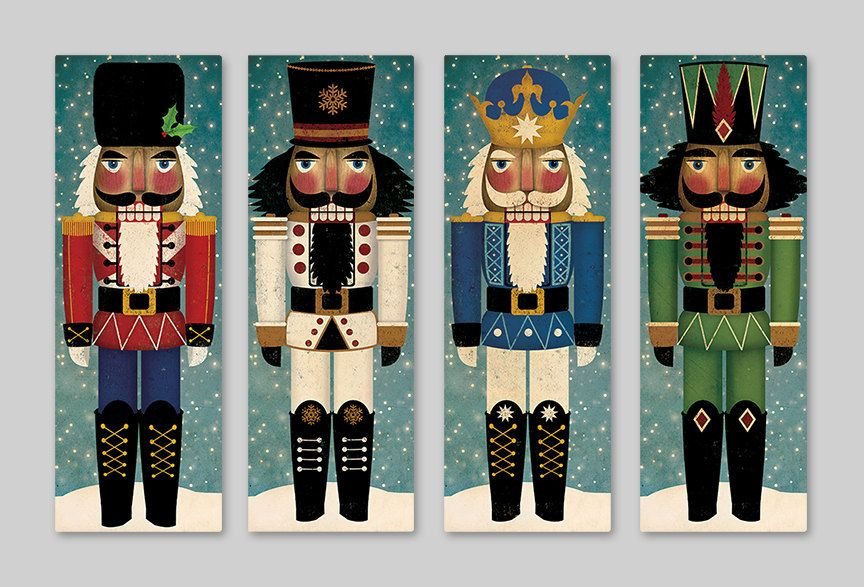 Nutcracker Decor Christmas Holidays Wall Art Canvas Etsy Nutcracker Decor Nutcracker Christmas Christmas Paintings