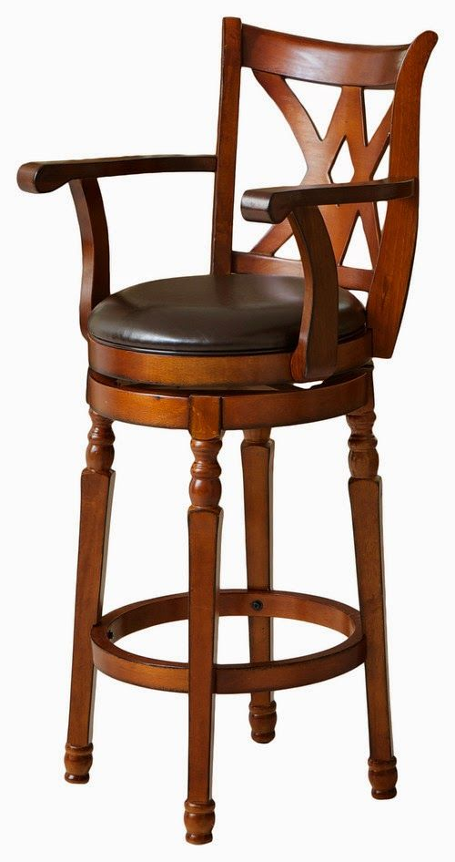 Tremendous Montreal Cherry Finish Swivel Bar Stool Teak Wood Carving Unemploymentrelief Wooden Chair Designs For Living Room Unemploymentrelieforg