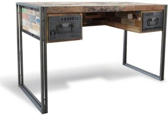 Brooklyn Industrial Desk with Drawers from Alexander and Pearl ...