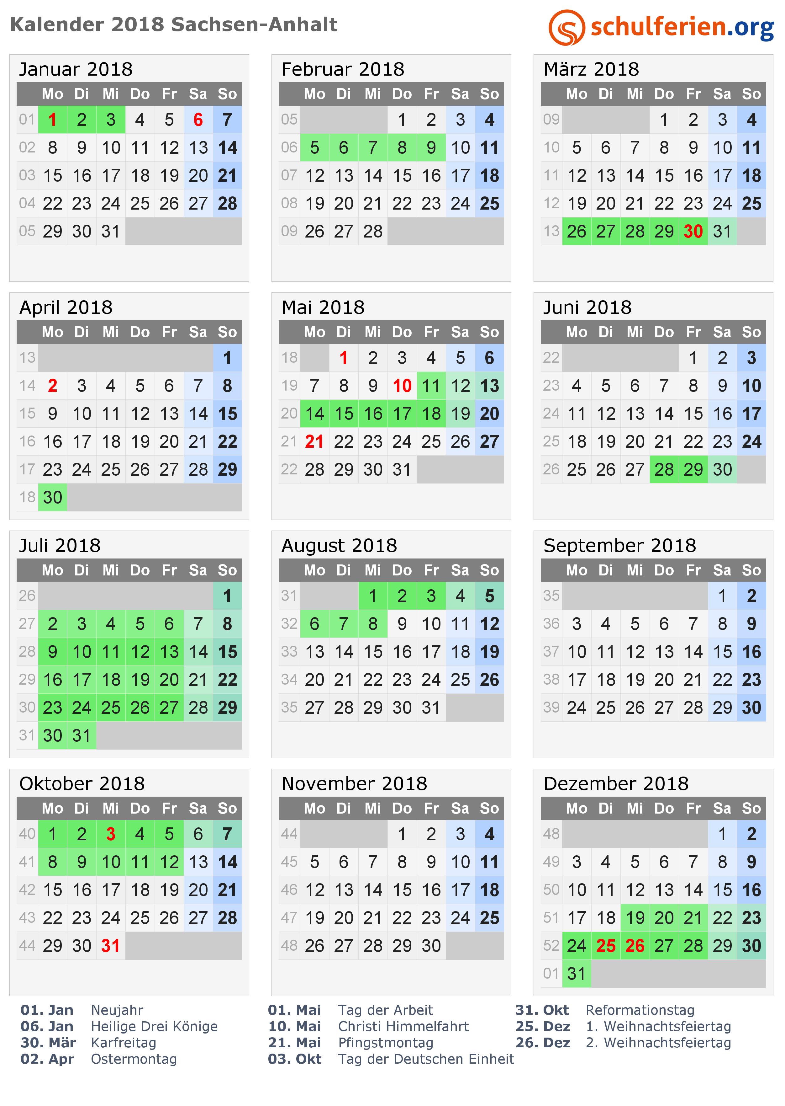 sommerferien sachsen-anhalt 2020