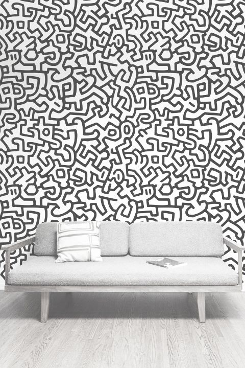 Grey | www oneandtheother co nz | Patterns | Patterned wall