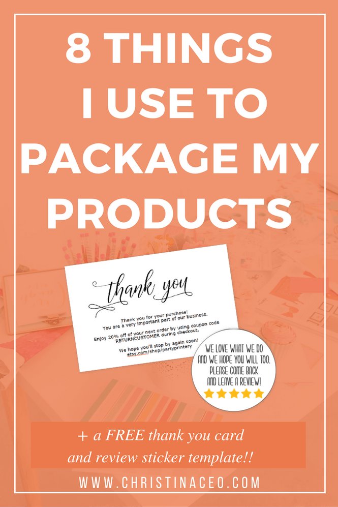 8 things i use to package and ship products card templates if theres one thing that im constantly trying to improve about my etsy shop its got to be my packaging seriously my shop has been open since 2014 and fandeluxe Images