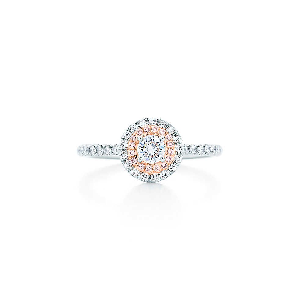 0cf78fa0b Tiffany & Co. - Tiffany Soleste® ring in platinum and 18k rose gold with  Fancy Pink diamonds.