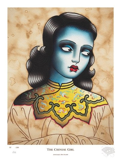 The Chinese Girl - Fine Art Giclee Print  Inspired by the Painting of Miss Wong by Tretchikoff (Artist: Angelique Houtkamp)