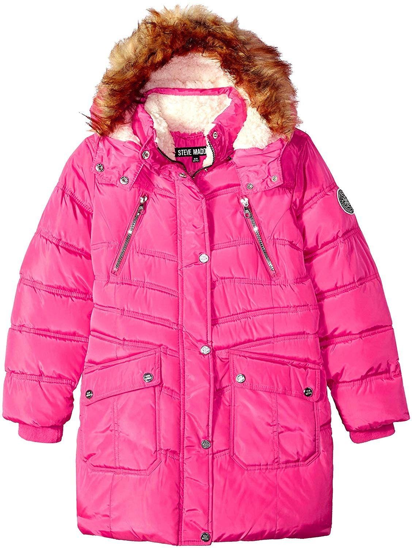 Weatherproof Little Girls Down Alternative Winter Puffer Bubble Jacket Coat  Hood Down & Down Alternative
